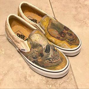 Van Gogh Skull Vans Slip On Limited Edison Art